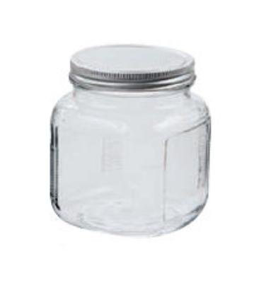 Anchor 85812R 2-qt Cracker Jar w/ Brushed Aluminum Lid