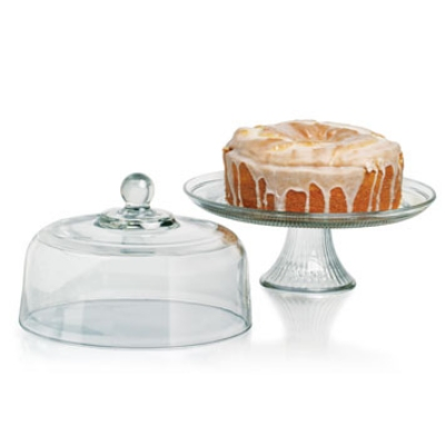 Anchor 86475L8 Gift Boxed Canton Cake Set, Glass, Clear