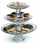 Anchor 86616L8 3-Piece Tiered Platter Set w/ 8-in Platter, 10-in Platter & 13-in Platter