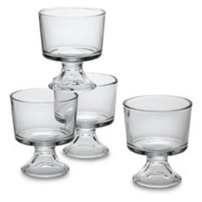 Anchor 86811L8 Presence Mini Trifle Set w/ (16)10-oz Trifles, Crystal