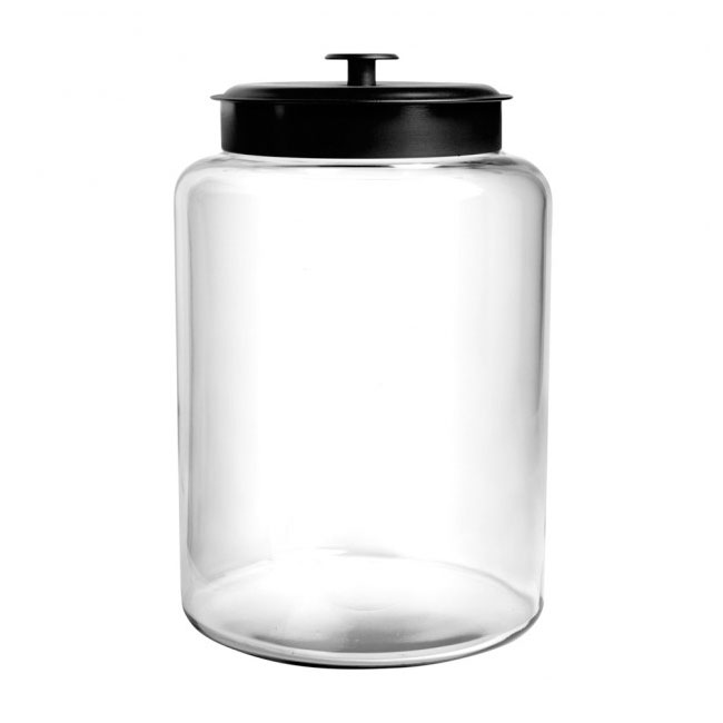 Anchor 88908 2-1/2 gallon Modern Montana Jar, Black Metal Cover