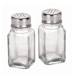 "Anchor 90079 3.37"" Salt/Pepper Shaker w/ Metal Lid, Square"
