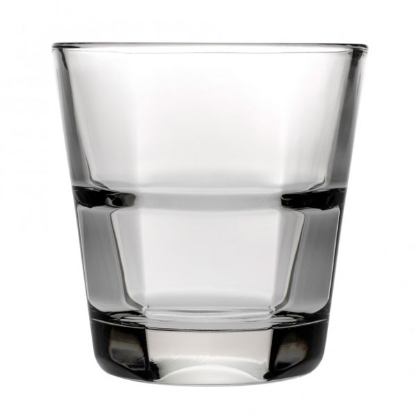 Anchor 90252 Clarisse Rocks Glass, 10-oz, Stackable & Tempered Rim