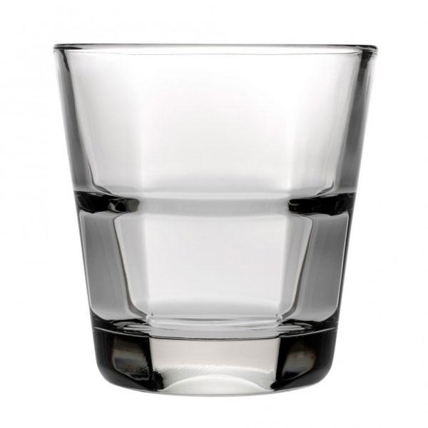 Anchor 90252 Clarisse Rocks Glass, 10-oz, Stackable & Tempered Rim
