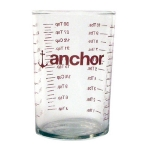 Anchor 91016L11 5 oz Measuring Glass, With Red Decoration