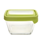Anchor 91072 TrueSeal Rectangular Storage Set w/ (2)1.88-cup Containers & 2-Green Lids