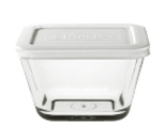Anchor 91668 1.88-Cup Rectangular Kitchen Storage Container w/ White Plastic Lid, Crystal