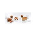 Anchor 91676 16 piece Kitchen Storage Set, Includes (4) Round, (4) Rectangular, (8) White Lid