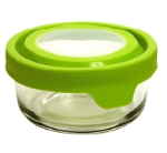 Anchor 91686 1-cup TrueSeal Round Storage Container w/ Cover, Crystal, Green