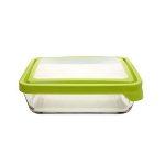 Anchor 91692 6-cup TrueSeal Rectangular Storage Container w/ Lid, Crystal, Green