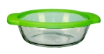 Anchor Hocking 91736TSB 2 qt TrueFit Casserole Dish, With TrueFit and Glass Covers, Crystal