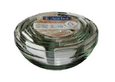 Anchor 92025L6 Mixing Bowl Set w/ 1-oz, 2-oz, 4-oz, 6-oz, 10-oz & 16-oz Bowls, Glass
