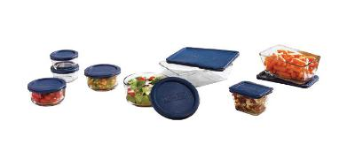 Anchor 92030L6 Boxed Kitchen Storage Set w/ 16-Pieces & Blue Plastic Lid