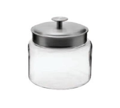 Anchor 95540R 64-oz Mini Montana Jar w/ Brushed Aluminum Metal Cover