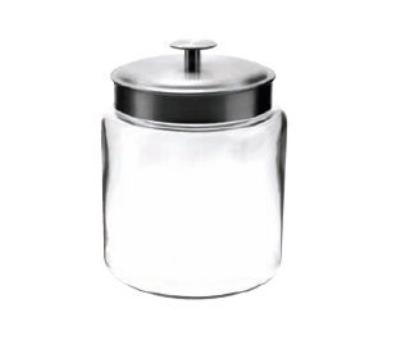 Anchor 95541 96-oz Mini Modern Montana Jar w/ Brushed Aluminum Metal Cover