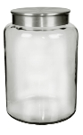 Anchor 95752 2.5-gal Mini Modern Montana Jar w/ Brushed Aluminum Metal Cover, Crystal