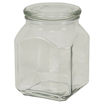 Anchor 95886 52-oz Emma Jar w/ Glass Cover, Clear