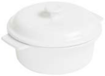 Anchor 95924 3.5-qt Covered Casserole Bakeware, White