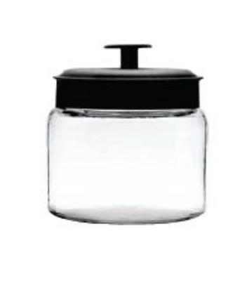 Anchor 96710 48-oz Mini Montana Jar w/ Black Metal Cover