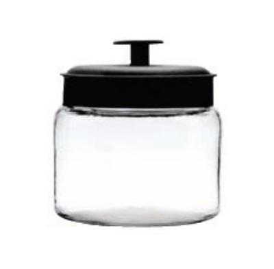 Anchor 96711R 64-oz Mini Montana Jar w/ Black Metal Cover