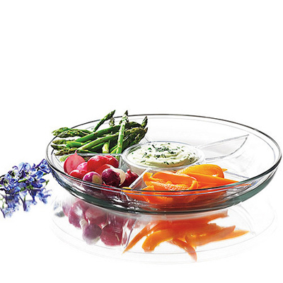 Anchor 96843R Deep Multi Functional Tray w/ 24-Capacity Egg Insert  & Vegetable Insert