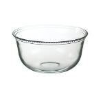 Anchor 98525 Large Olivia Serving Bowl w/ Beaded Rims & Dishwasher Safe