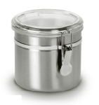 Anchor Hocking 98583 38 oz Round Clamp Stainless Steel Canister, Acrylic Lid 98583