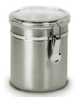 Anchor 98584 47-oz Round Clamp Canister w/ Acrylic Lid, Stainless