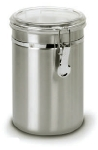 Anchor 98585 63-oz Round Clamp Canister w/ Acrylic Lid, Stainless