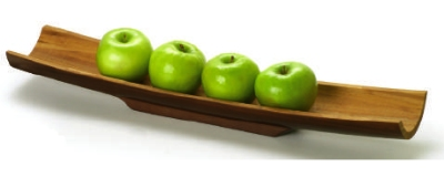 Anchor 98620 Bamboo Large Bread or Cracker Tray, Espresso Finish