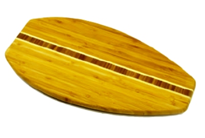Anchor 98622 17.75x9-in Cutting Board w/ Surfboard Design, Bamboo
