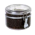 Anchor 98631 32-oz Round Canister w/ Clamp Top Lid, Acrylic, Clear