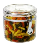 Anchor 98632 64-oz Round Canister w/ Clamp Top Lid, Acrylic, Clear