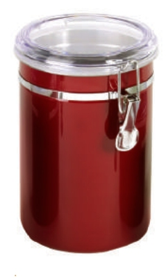 Anchor 98638 63-oz Round Canister w/ Clear Acrylic Clamp