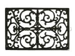 Anchor 98647 Cast Iron Trivet, Rectangle, 11-2/5 x 7-3/5 in, Black