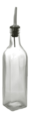 "Anchor 98700TG 10.5"" Vinegar Oil Bottle w/ Stainless Spout, Glass"