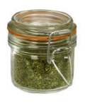 Anchor 98906 6.75-oz Mini Heremes Jar w/ Clamp Top Lid, Crystal