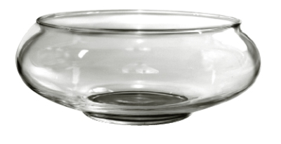 Anchor 98913 9-in Garden Dish, Crystal