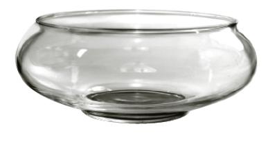 Anchor 98913 9-in Garden Dish, Crystal