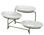 Anchor 98915 4-Piece Tiered Rack w/ Oval Shaped Serving Dishes