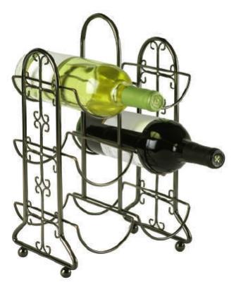 Anchor 98918 Reflections Six Bottle Wine Rack, Venetian Bronze