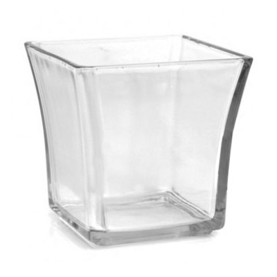 "Anchor 99005 4"" Flared Square Votive, Glass"