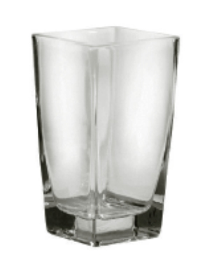 Anchor Hocking 99060 6-1/2 in Square Flare Vase Glass Restaurant Supply