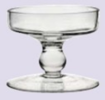 Anchor 99172 3-in Zona Pilla Candle Holder, Glass, Clear