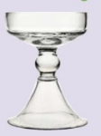 Anchor 99174 5-in Zona Pilla Candle Holder, Glass, Clear