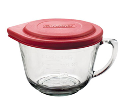 Anchor 91557L11 2-qt Batter Bowl w/ Red Lid