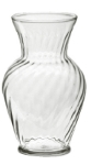 Anchor 00837 7-in Illusion Vase, Crystal