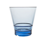 Strahl 7100943 9-oz CapellaStack Rocks Glass - Stackable, Polycarbonate, Pacific Blue