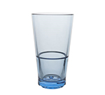 Strahl 7101643 16-oz CapellaStack Cooler Glass - Stackable, Polycarbonate, Pacific Blue