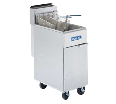 Royal Range RFT-50 NG Gas Fryer - (1) 50-lb Vat, Floor Model, NG